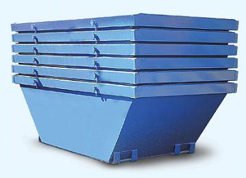 Contenedor de obra de metal trapezoidal azul